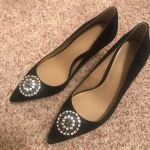 Jeweled suede Ann Taylor pumps